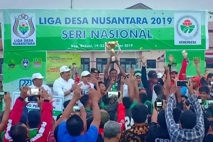 Desa Banumas dari OKU Timur, Sumatera Selatan, jadi Juara Liga Desa Nusantara 2019.