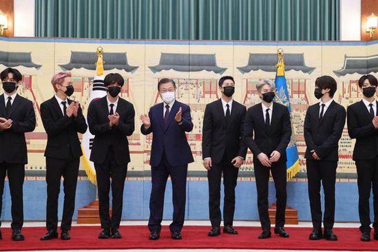 BTS dan Presiden Moon Jae In