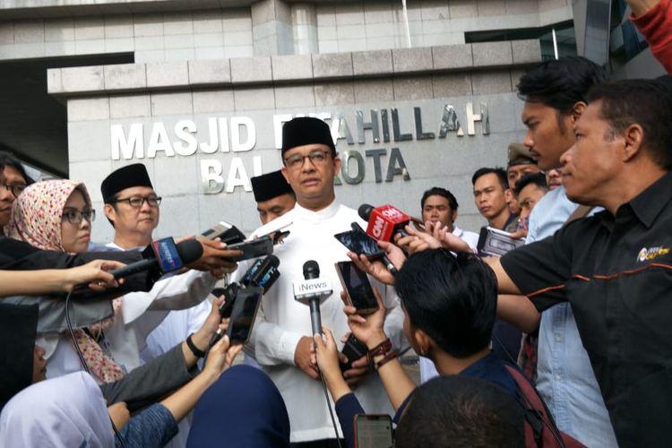 Gubernur DKI Jakarta Anies Baswedan di Balai Kota DKI Jakarta, Jalan Medan Merdeka Selatan, Minggu (11/8/2019).