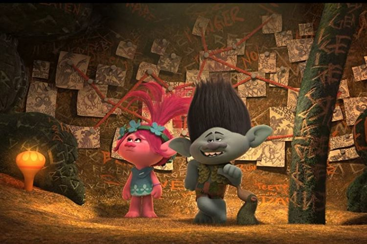 Film animasi 3D, Trolls (2016).
