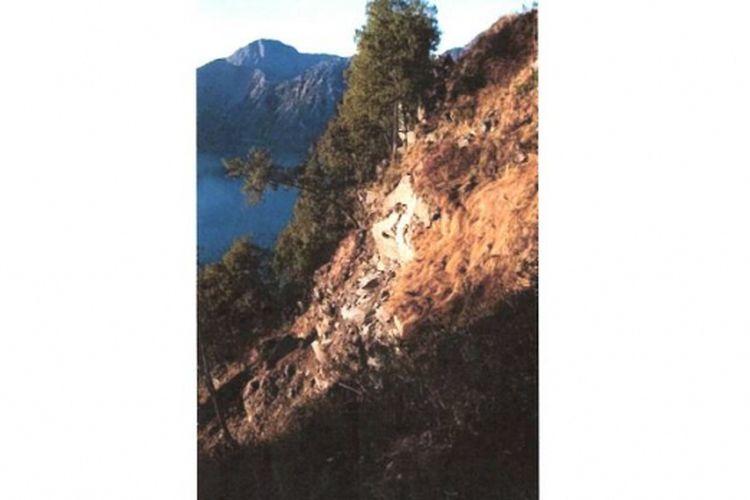 Longsor di Gunung Rinjani, Jalur Senaru sebelum Segara Anak.