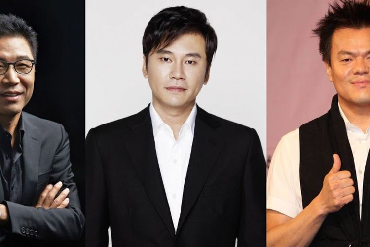 Lee Soo Man dari SM Entertainment, Yang Hyun Suk dari YG Entertainment, dan Park Jin Young JYP Entertainment.