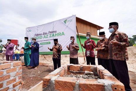 Masjid Az Zahra di Lampung Utara Resmi Dibangun, Dompet Dhuafa Gelar Peletakkan Batu Pertama