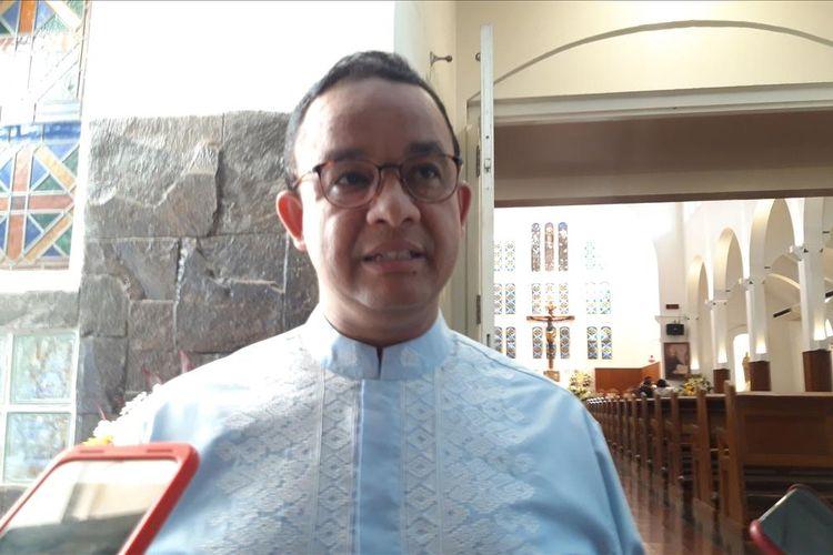 Gubernur DKI Jakarta Anies Baswedan di Kapel Kolese Kanisius, Jumat (26/7/2019)