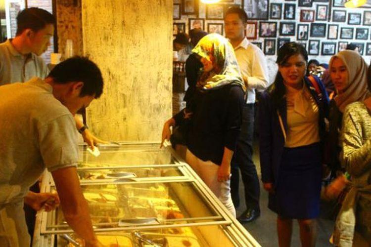 Berbagai pilihan rasa es krim bisa dinikmati di Il Tempo del Gelato, Jalan Prawirotaman, Yogyakarta.