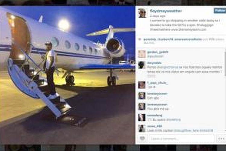 Instagram petinju Amerika Serikat, Floyd Mayweather.