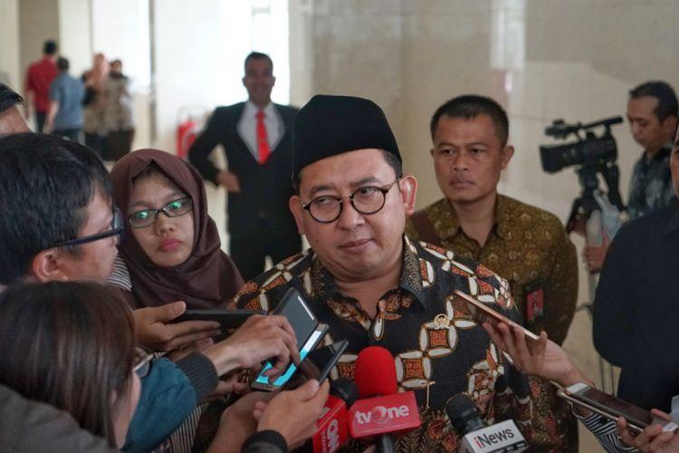 Wakil Ketua DPR Fadli Zon saat ditemui di Kompleks Parlemen, Senayan, Jakarta, Selasa (2/10/2018).