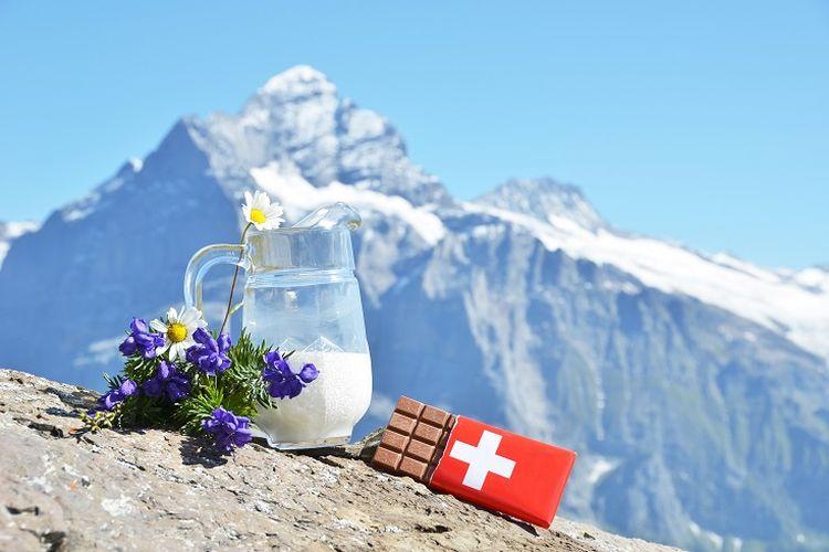 Ilustrasi coklat Swiss (SHUTTERSTOCK/Capricorn Studio).