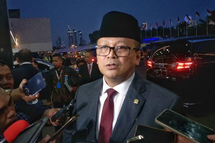Wakil Ketua Umum Partai Gerindra Edhy Prabowo saat ditemui di Kompleks Parlemen, Senayan, Jakarta, Minggu (20/10/2019).