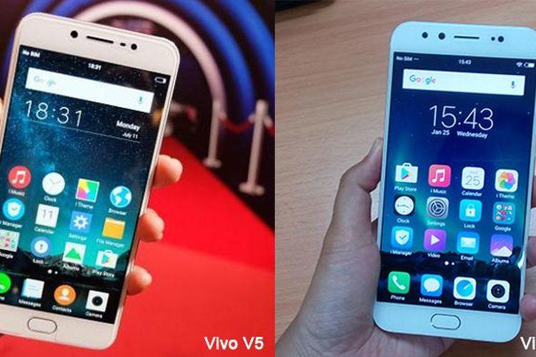 Tampilan depan Vivo V5 Plus tak jauh berbeda dengan pendahulunya, V5.
