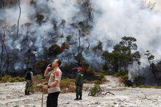 Api Mulai Padam, Petugas Pantau Kawah Putih Gunung Patuha dengan Drone