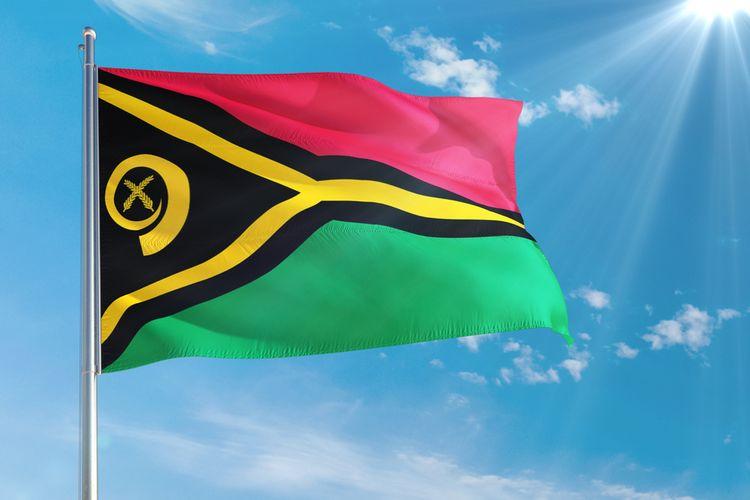 Ilustrasi bendera negara Vanuatu