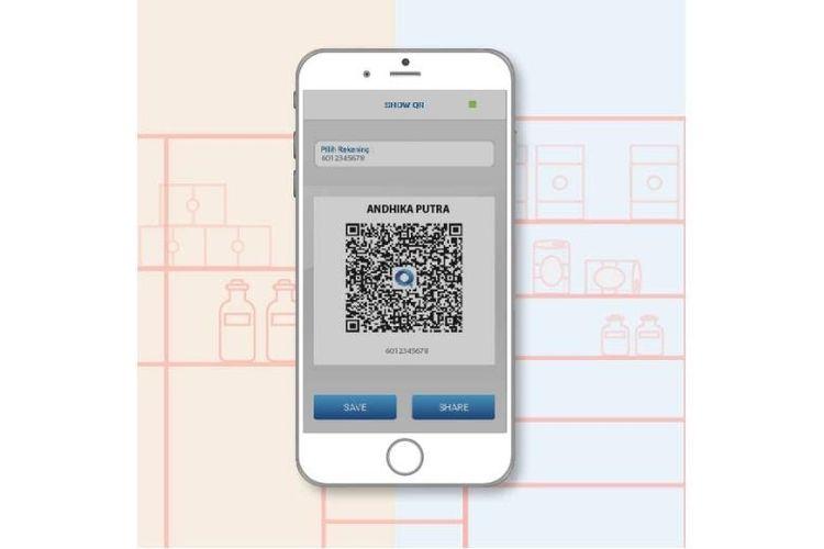 Ilustrasi QR Code BCA mobile untuk transfer ke sesama rekening BCA