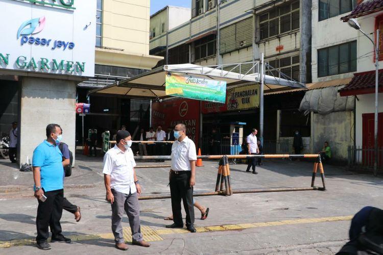 Pasar Tanah Abang ditutup pascabentrok, Rabu (22/5/2019).