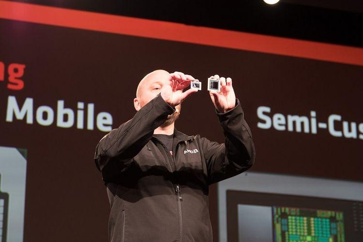 Vice President and General Manager AMD Radeon Technologies Groups, Scott Herkelman, dalam AMD Tech Day 2018 di Las Vegas, Sabtu (6/1/2018)