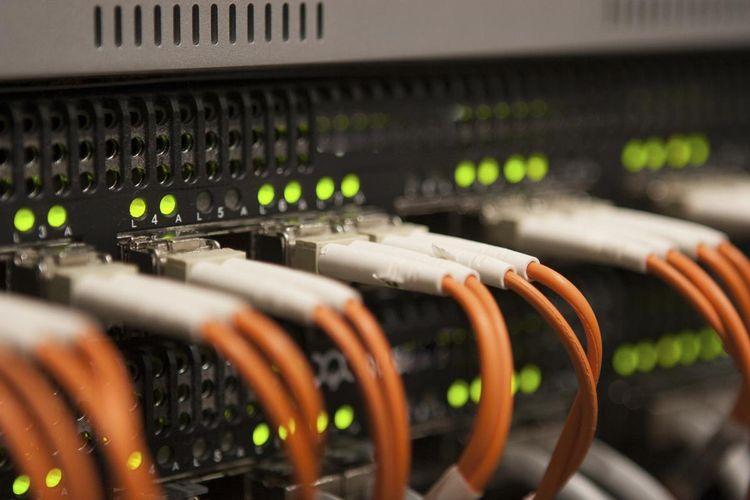 Ilustrasi perangkat router jaringan