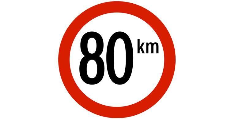 Rambu batas kecepatan kendaraan.