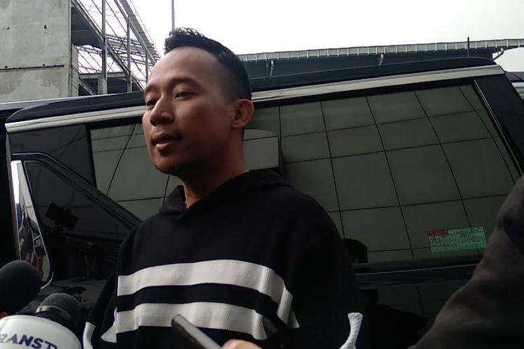Komedian Denny Cagur saat ditemui usai tampil di salah satu televisi swasta di kawasan Mampang, Jakarta Selatan, Rabu (8/5/2019).