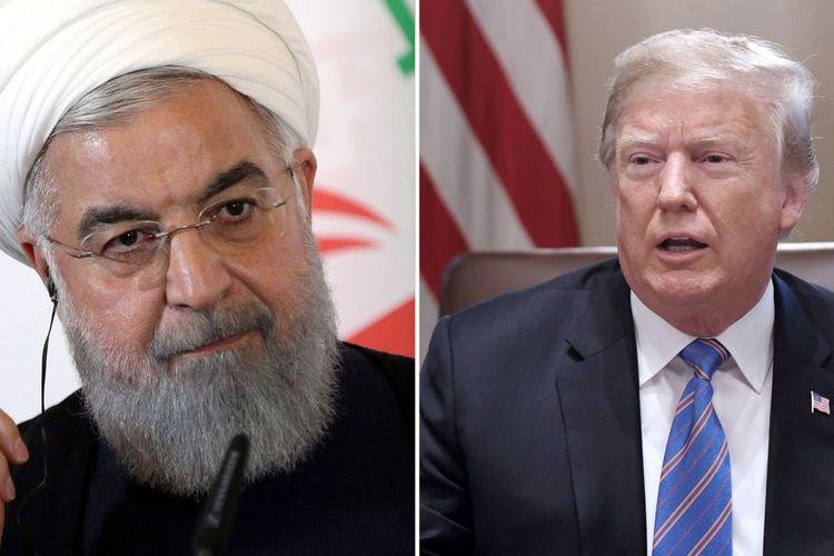 Presiden Amerika Serikat (AS) Donald Trump (kanan) dan Presiden Iran Hassan Rouhani.