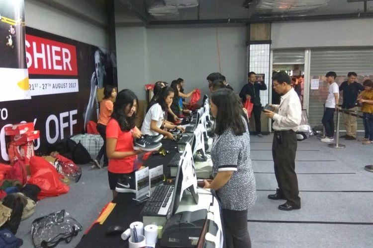 Lokasi bazar Nike di Grand Indonesia