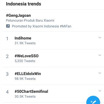 Kicauan terkait gangguan layana internet membuat Indihome duduk di urutan teratas Trending Topic Twitter untuk wilayah Indonesia pada Kamis pagi (13/8/2020).