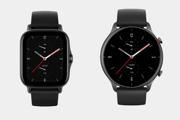 Jam tangan pintar Amazfit GTS 2e (kiri) dan GTR 2e (kanan) resmi masuk Indonesia.