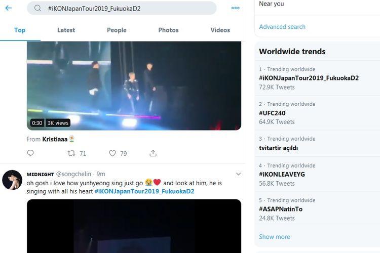 Bidik layar daftar trending topic dunia di Twitter, hari ini Minggu (28/7/2019).
