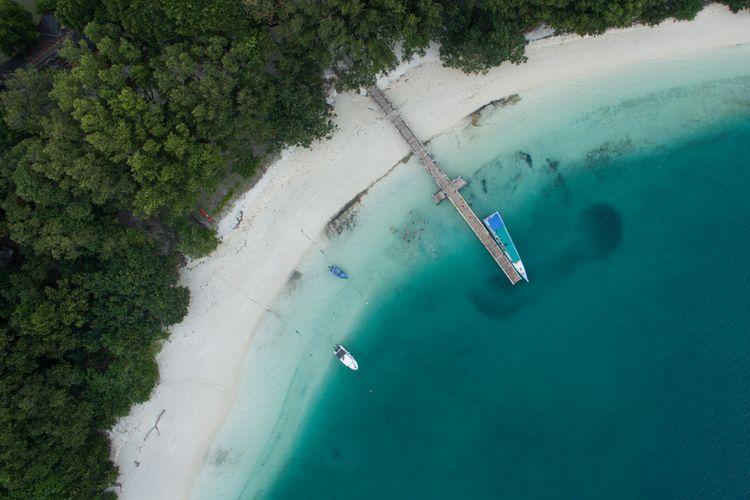 Pulau Peucang di Taman Nasional Ujung Kulon, Banten