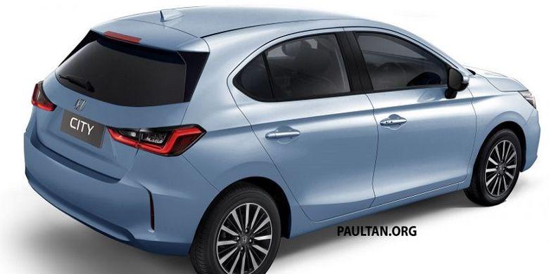 Desain Honda City Hatchback yang berkemungkinan menjadi Jazz untuk pasar Asia Tenggara.