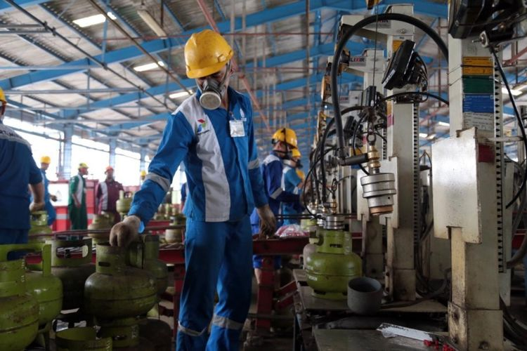 Distribusi liquid petroleum gas (LPG) 3 kg