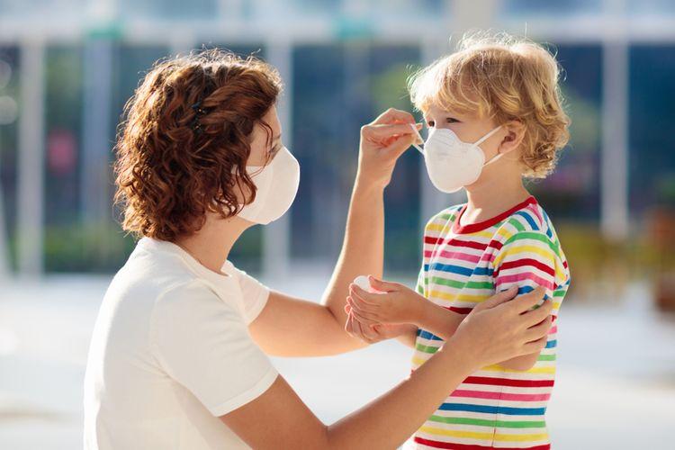 Ilustrasi virus corona pada anak