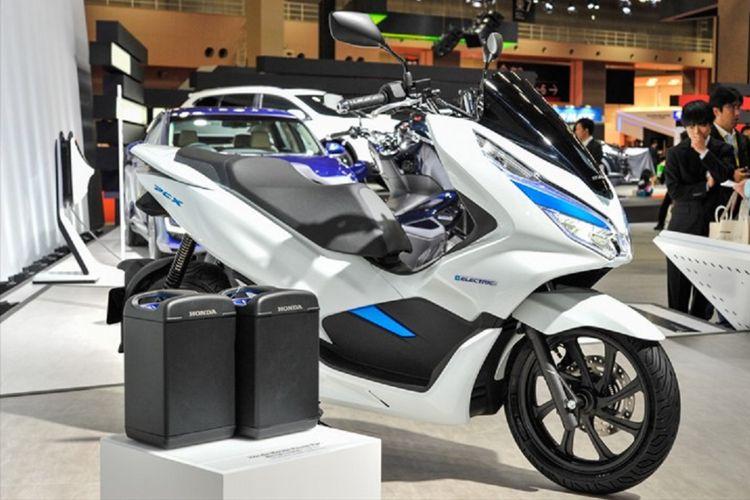 Honda PCX EV yang dipamerkan di ajang Tokyo Motor Show 2017