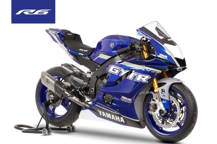 Yamaha YZF-R6 dengan komponen dari GYTR