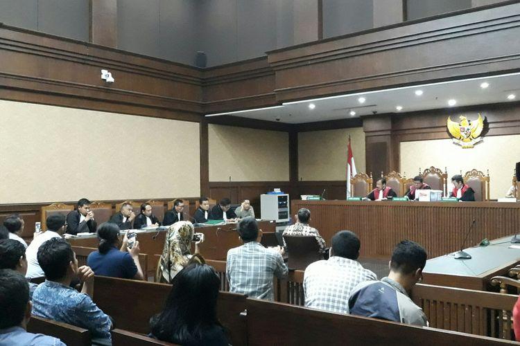 Sidang pengajuan peninjauan kembali (PK) Anas Urbaningrum dengan saksi mantan Direktur Adhi Karya Teuku Bagus Muhammad Noor di PN Jakarta Pusat, Jumat (8/6/2018).