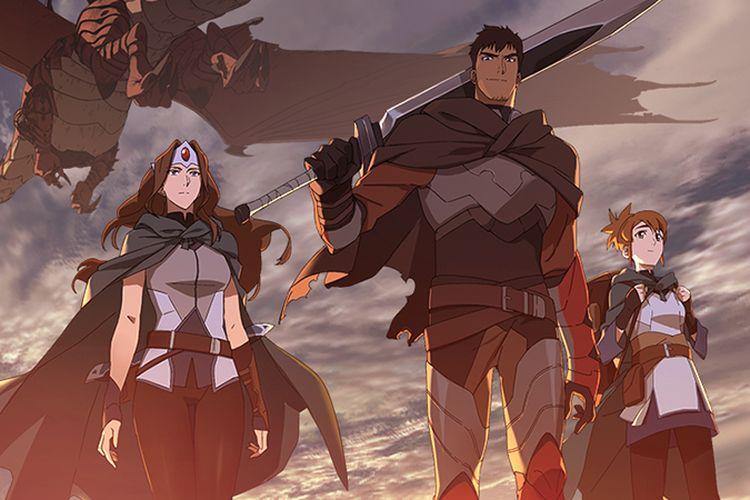 Salah satu adegan dalam serial animasi Netflix DOTA: Dragon's Blood.