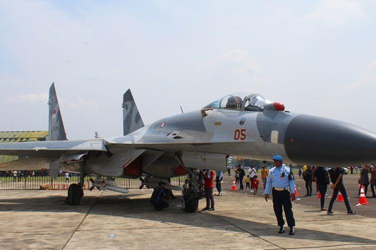Pesawat tempur Sukhoi Su-27 milik TNI Angkatan Udara