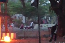 Bentrok Demonstran dan Polisi di Makassar, Pos Polisi Dilempari Bom Molotov