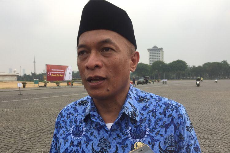 Kepala BKD DKI Jakarta Chaidir di Monas, Jakarta Pusat, Senin (28/10/2019).