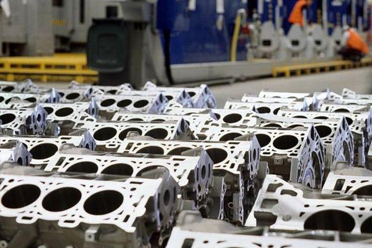 Ilustrasi pabrik mobil