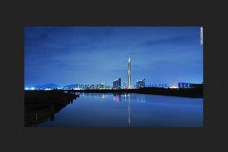 Korea Selatan membangun gedung pencakar langit yang tidak sesuai