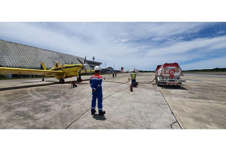 Pesawat Air Tractor AT 802 adalah pesawat yang menyalurkan BBM untuk 2 (dua) SPBU wilayah 3T di Kecamatan Krayan Selatan, Kab. Nunukan, Kalimantan Utara.