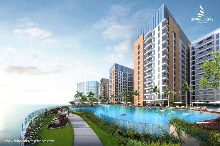 Borneo Bay Residence di Balikpapan, Kalimantan Timur, dikembangkan oleh PT Agung Podomoro Land Tbk (APLN).