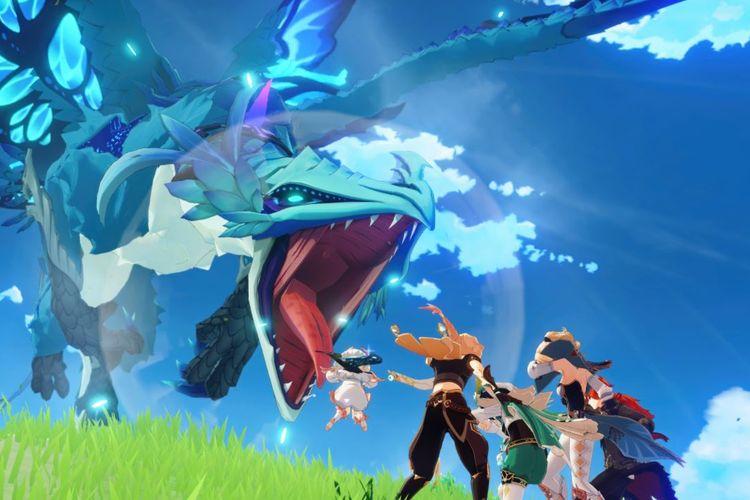 Ilustrasi gameplay Genshin Impact.
