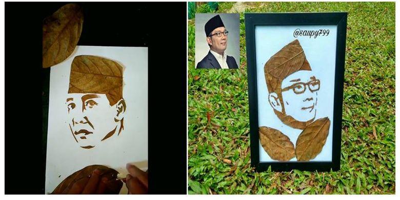 Pemuda Tasikmalaya Ini Bikin Lukisan Soekarno Dan Ridwan Kamil