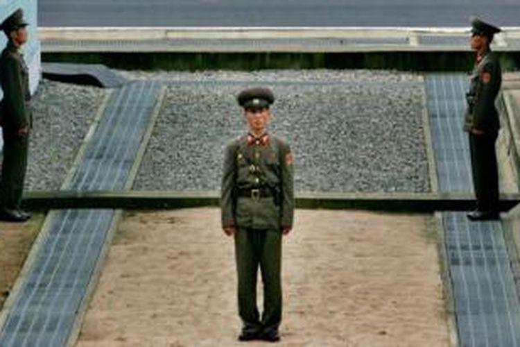 Desa Panmunjam, tempat pertemuan perwakilan Korea Selatan dan Korea Utara.