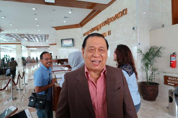 Koordinator Bidang Kepartaian Partai Golkar, Kahar Muzakir di Kompleks Parlemen, Senayan, Jakarta, Selasa (26/9/2017).