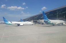 Runway Basah, Pesawat Garuda Sempat Tergelincir di Bandara Adisutjipto