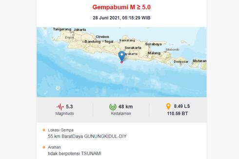BMKG: Gempa Jogja Pagi Ini Bukan Gempa Megathrust