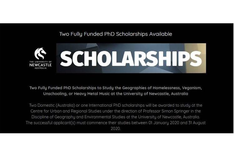 University of Newcastle, Australia membuka beasiswa penuh untuk program heavy heavy metal.