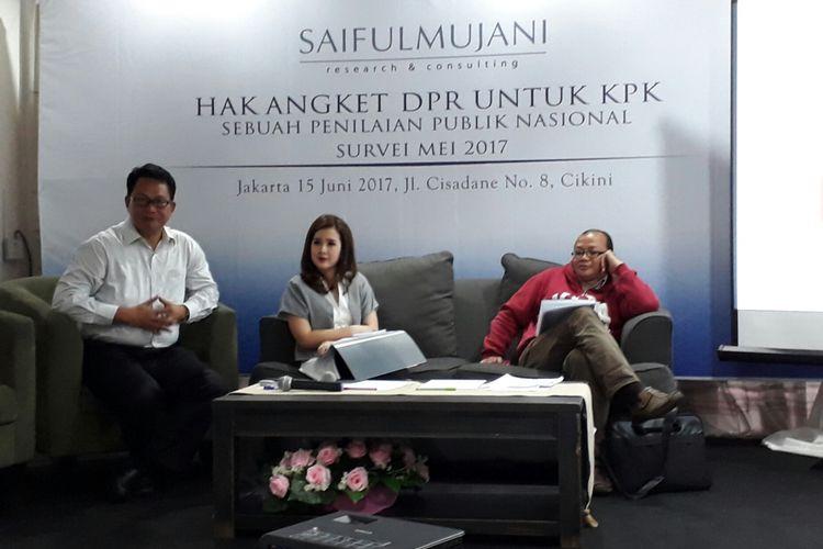 Survei SMRC: 65 Persen Publik Tolak DPR Gunakan Hak Angket untuk KPK